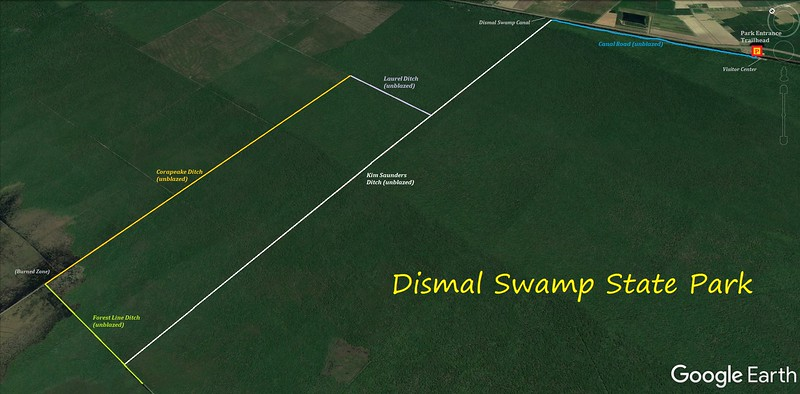 Dismal Swamp State Park Bike Route Map