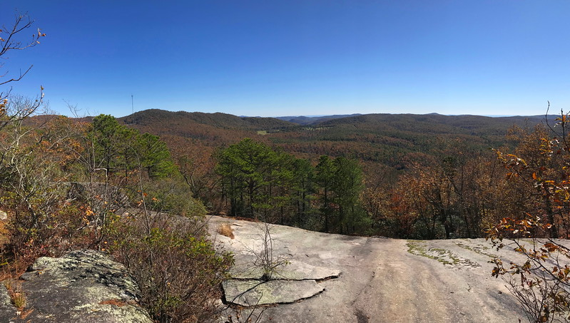 Stone Mountain Summit Ridge Path --  3,640'