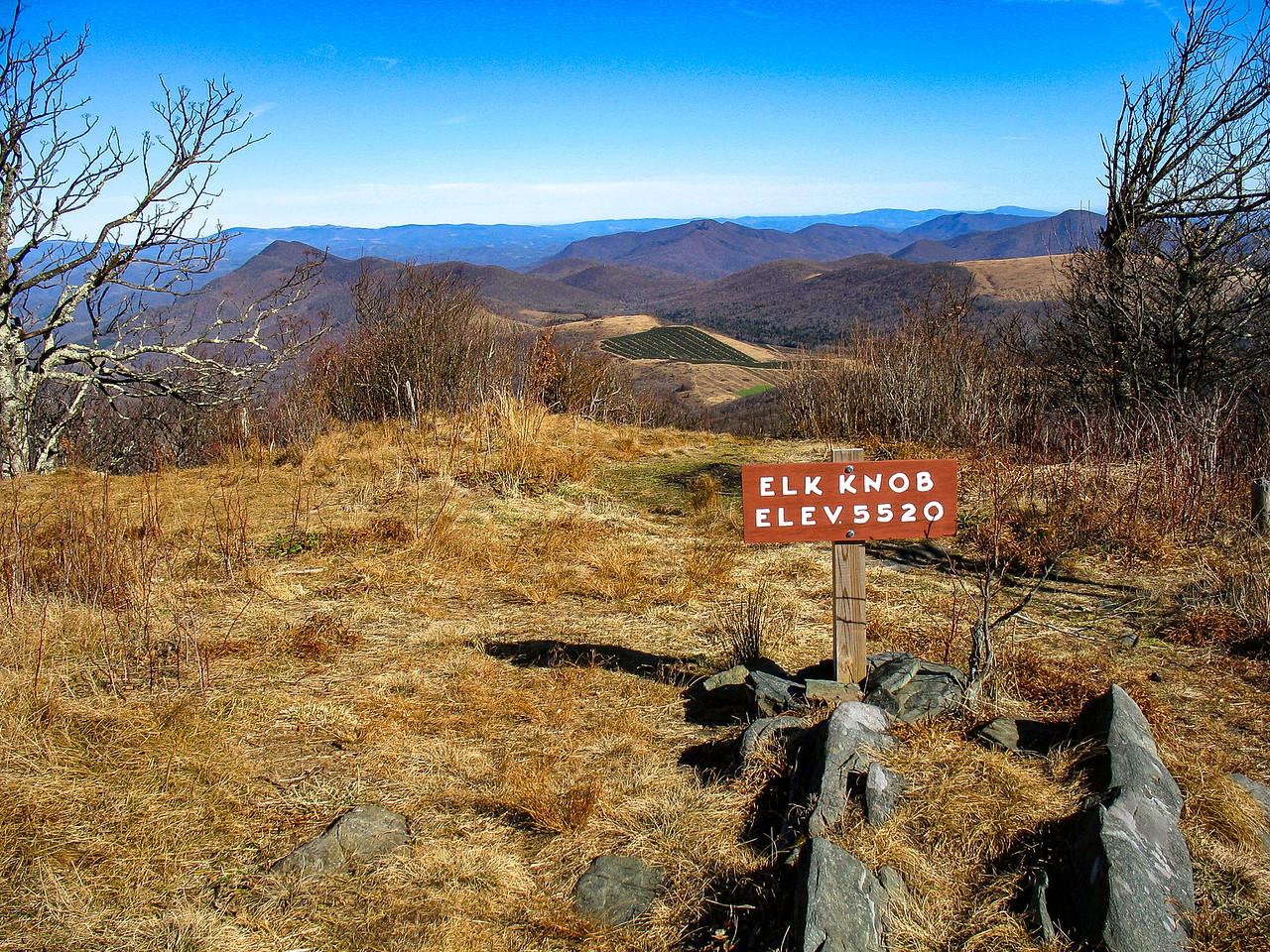 Elk Knob Summit - 5,520'