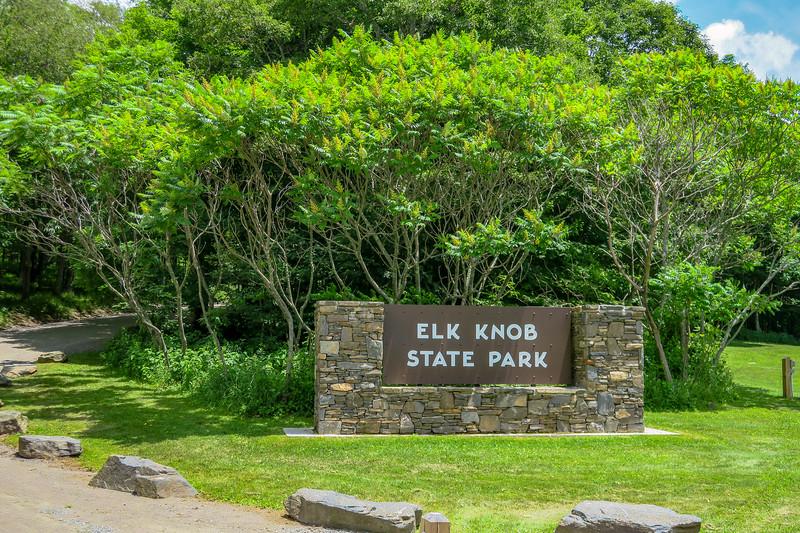 Elk Knob State Park Entrance -- 4,500'