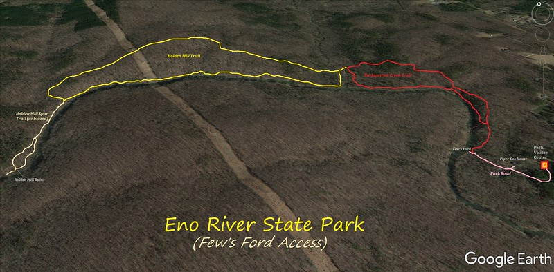 Eno River State Park Hike Route Map