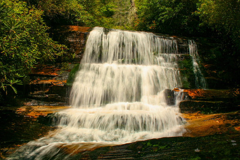 Gorges State Park - Bearwallow Valley & Falls Trails  (2.0 miles; d=2.70)