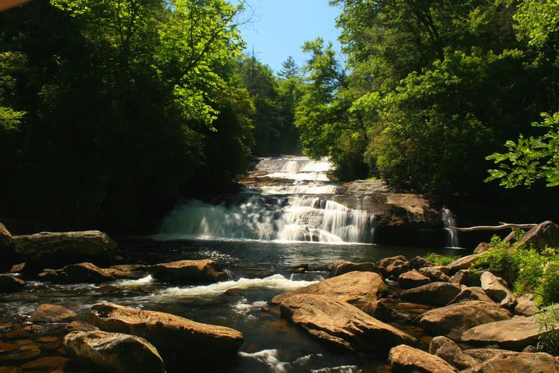 Gorges State Park - Rainbow Falls Trail  (4.5 miles; d=6.20)