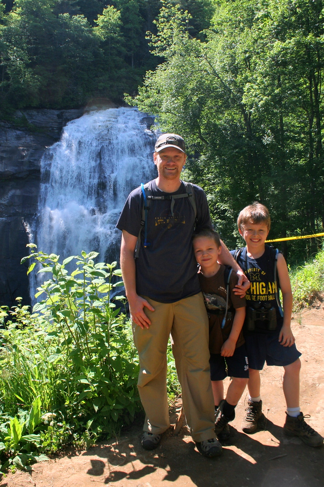 A short, steep climb above Hidden Falls brings you to the 'big one'...Rainbow Falls...
