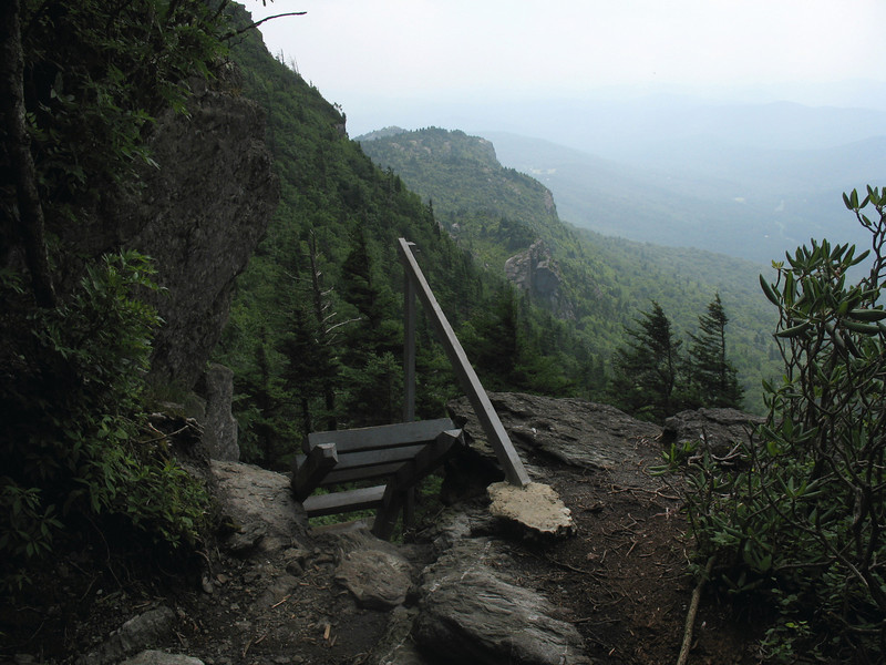 The only ladder on the Underwood Trail is this one which helps you over a 25-foot ledge.