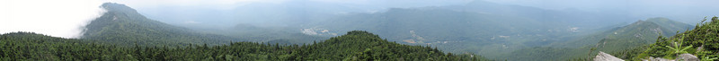 The full panorama from Watauga View. Attic Window Peak all the way to Foscoe and the ridges to the north on the right.