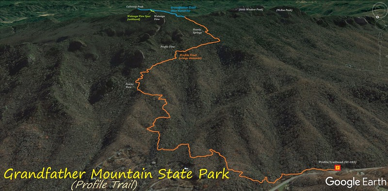 Profile Trail Hike Route Map