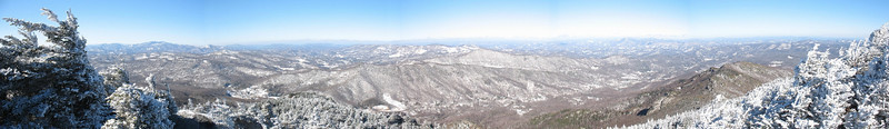 The beautiful, albeit cold, view west from Watauga View. Not my best panorama but good enough, I think, considering the gusty winds and my frozen fingers!