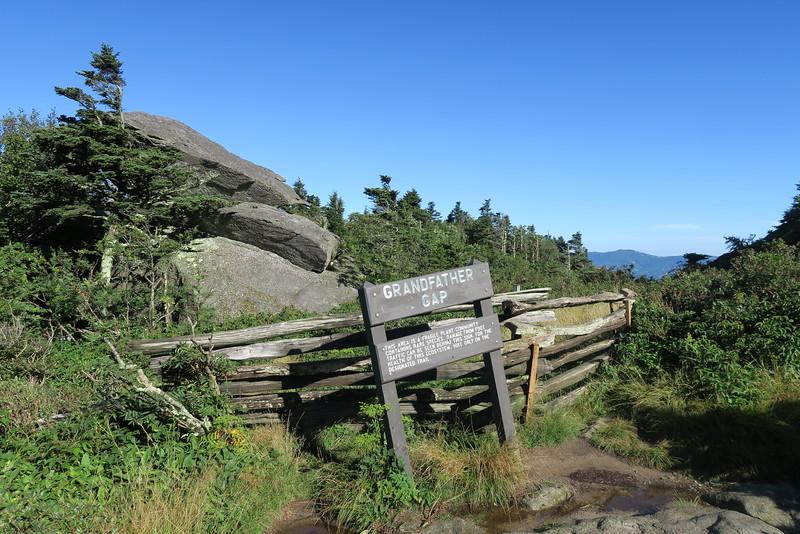Grandfather Trail -- Grandfather Gap -- 5,300'