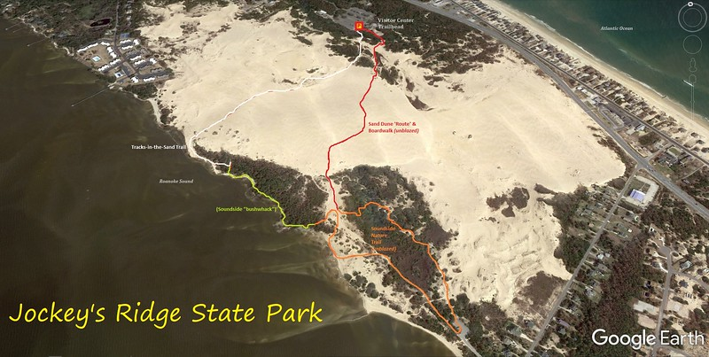 Jockey's Ridge Hike Route Map