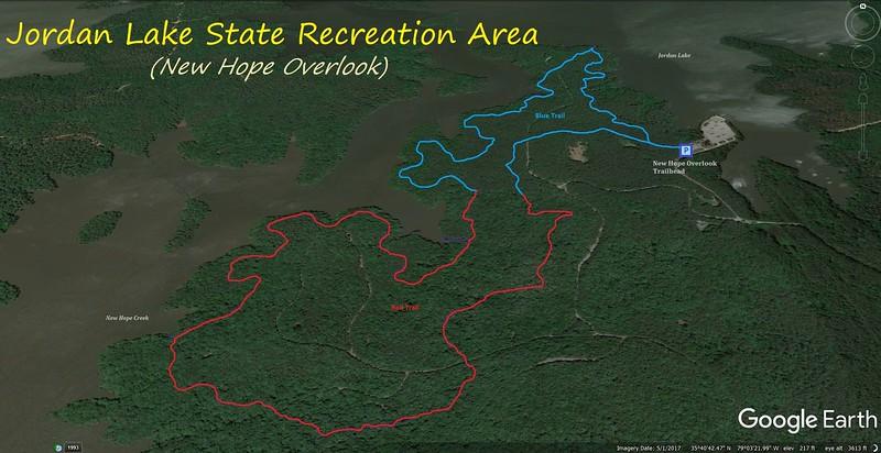 New Hope Overlook Loop Hike Route Map