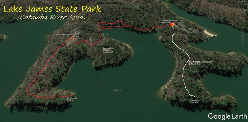 Lake James State Park Hike Route Map