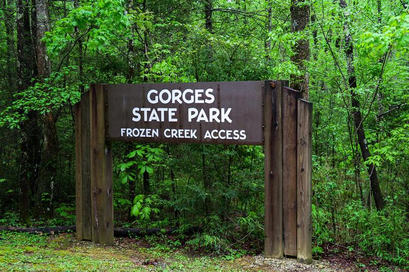 Frozen Creek Access Entrance
