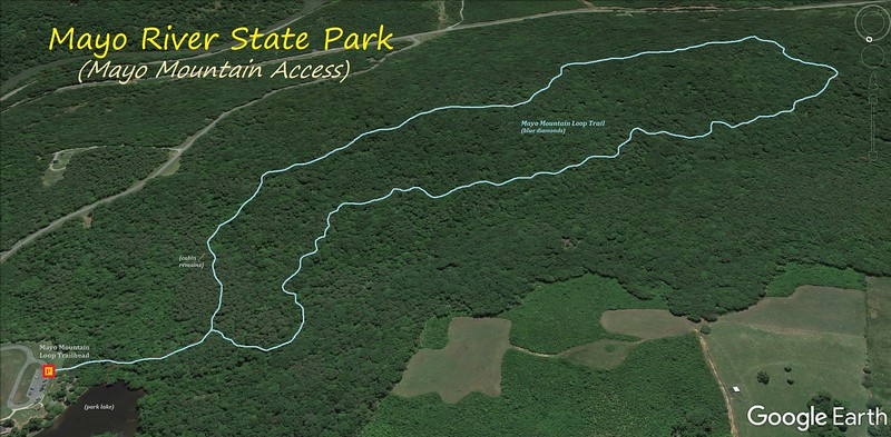 Mayo River State Park Hike Route Map