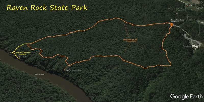 Raven Rock Loop Route Map