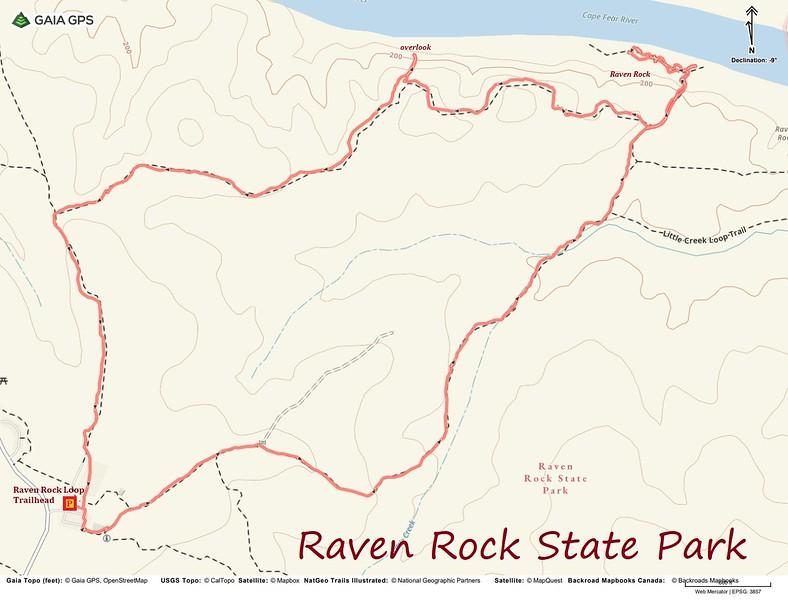 Raven Rock Loop Route Map