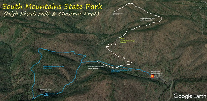 South Mountains State Park Hike Route Map