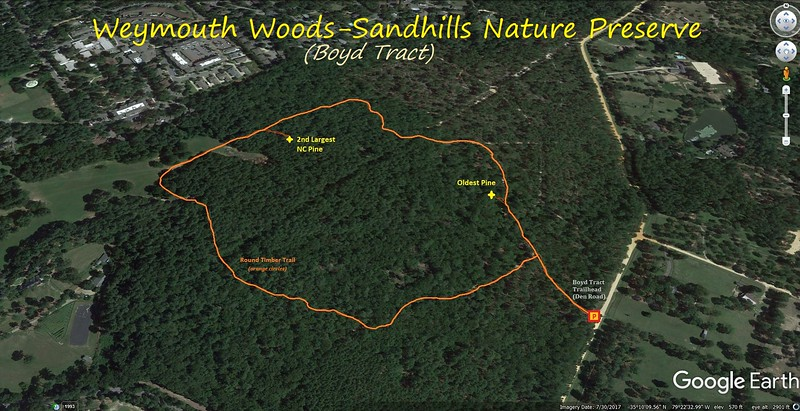 Boyd Tract Hike Route Map