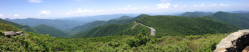 <b>Craggy Pinnacle Summit (5,892') - </b>Overlooking the Asheville Watershed to the north from the top of the Pinnacle...