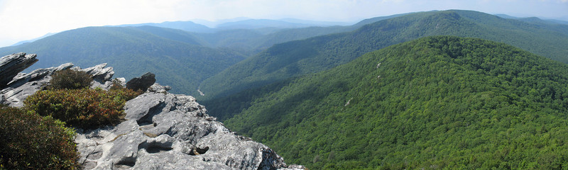 A panoramic shot of the Upper Gorge