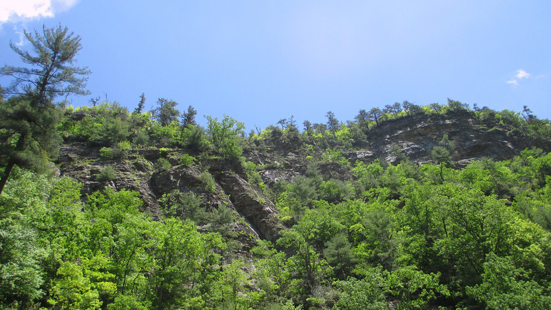 The Bynum Bluff Trails' namesake cliffs tower hundreds of feet above...