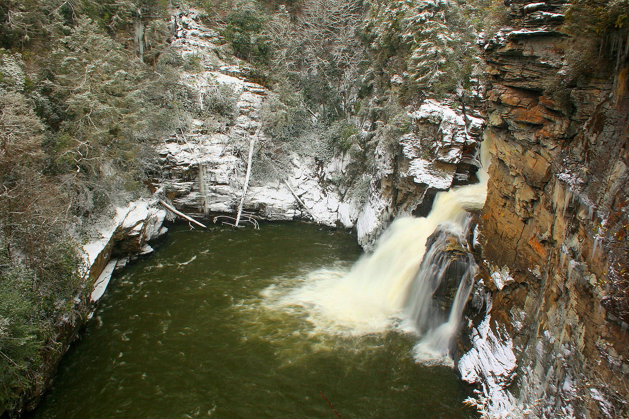 Linville Falls in its winter best...