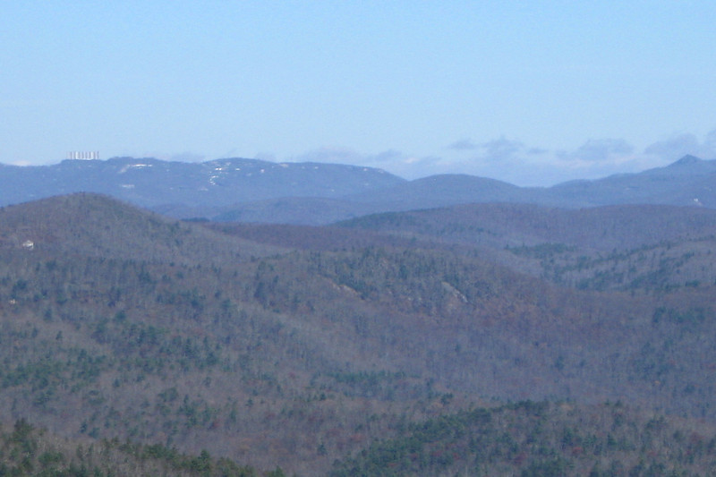 The line demarcating protected and unprotected lands is quite easy to see in these parts.  Case in point, possibly the most abused peak in the southeast, neighboring Sugar Mountain...