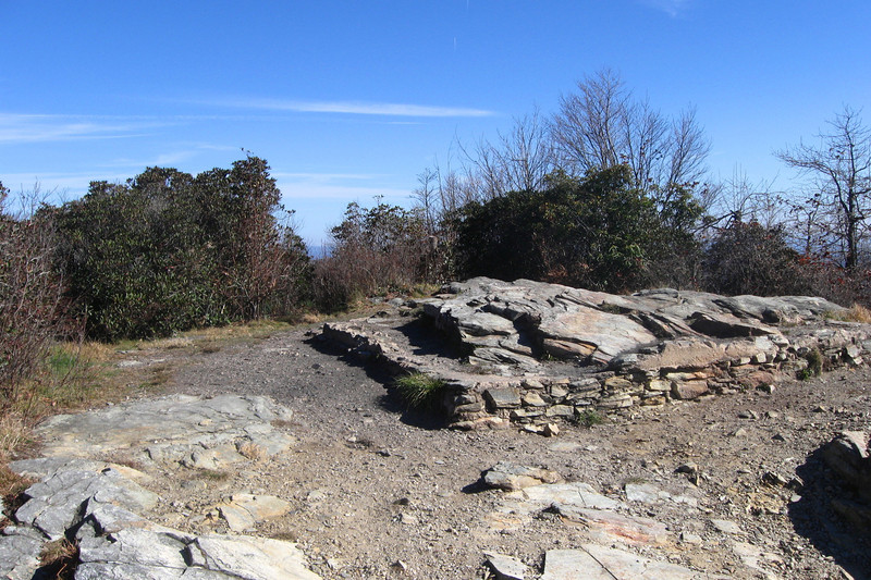 <i>Tablerock Mountain Summit</i> - 4,100' - Not sure the story behind the old foundation...something to look into...
