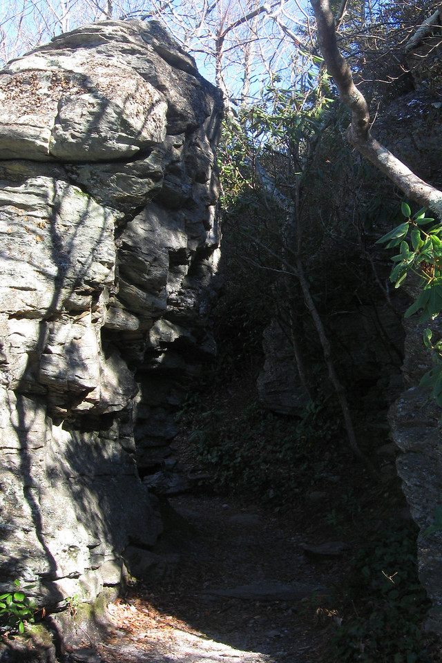 The path through this outcrop almost looks man-made...