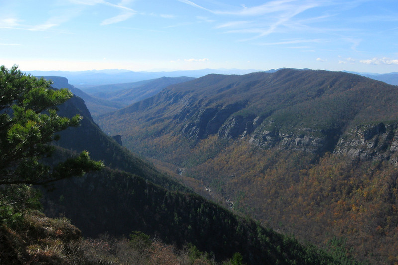 From Little Tablerock you get a real good look out the mouth of Linville Gorge...