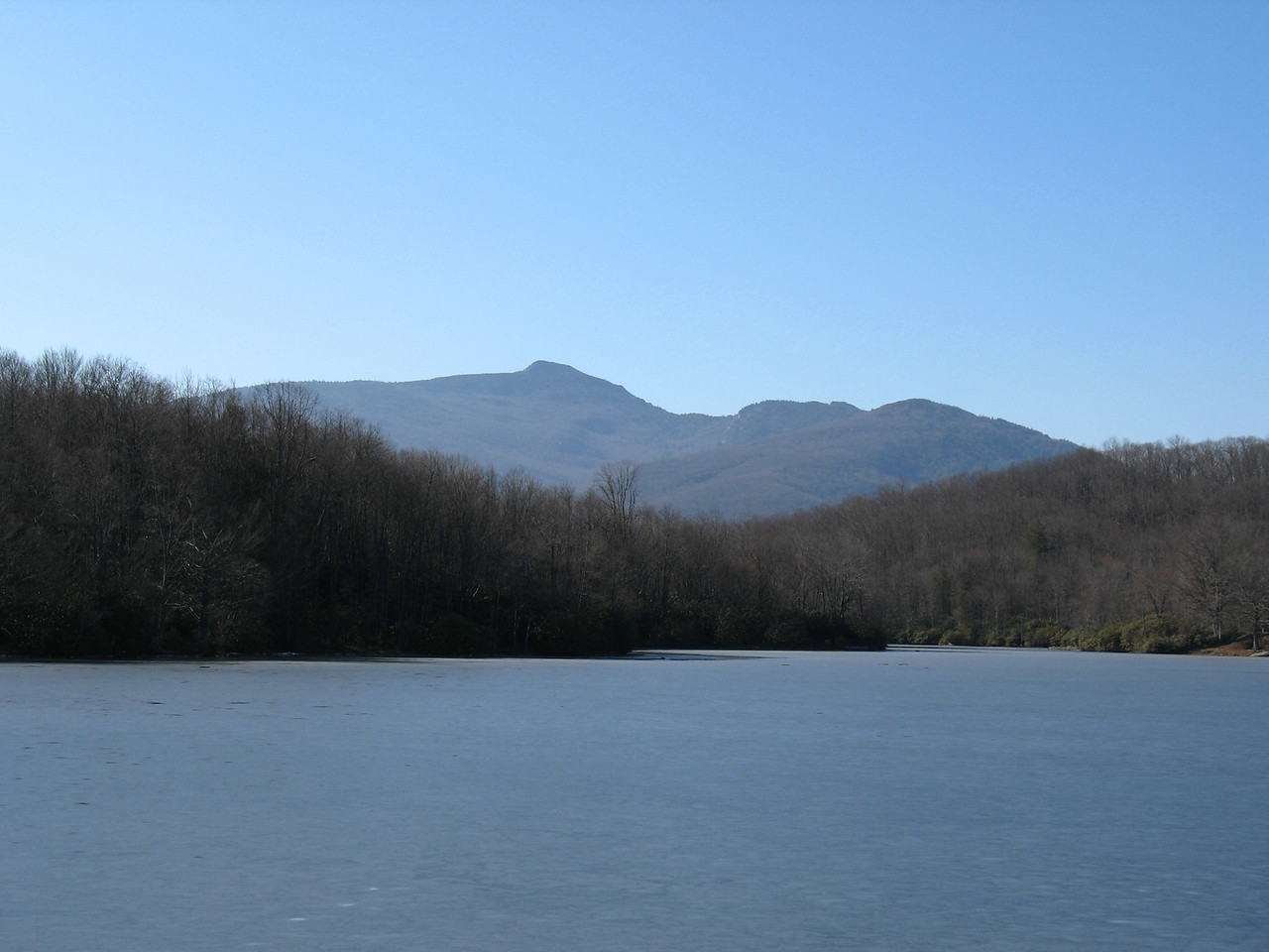 Grandfather Mountain from the east shore of Price Lake.