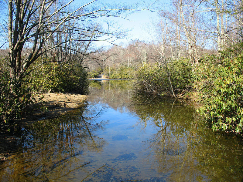 Boone Fork is one of two streams that feed into the west end of Price Lake.