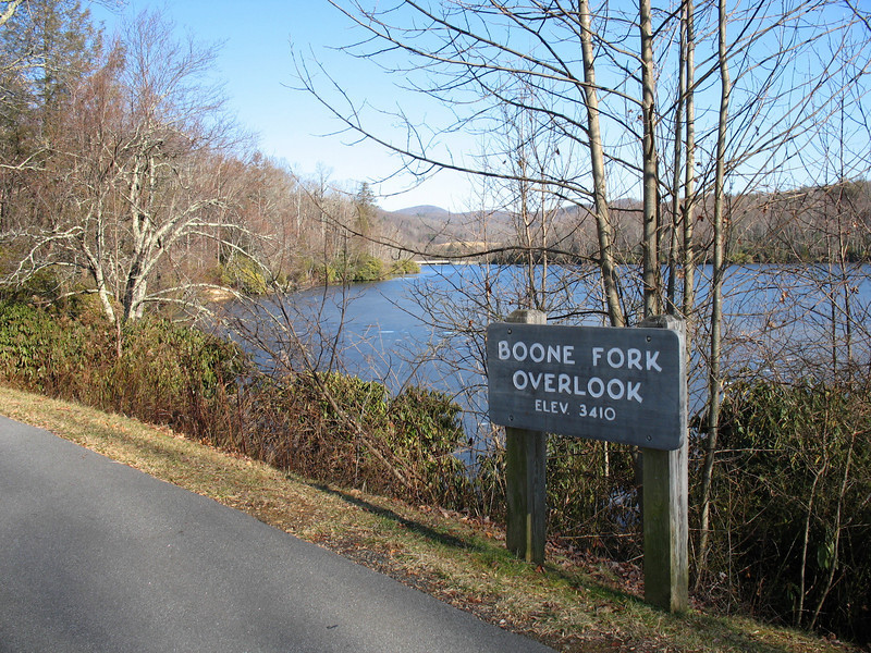 Boone Fork Overlook...Maybe Price Lake Overlook would be a better name?
