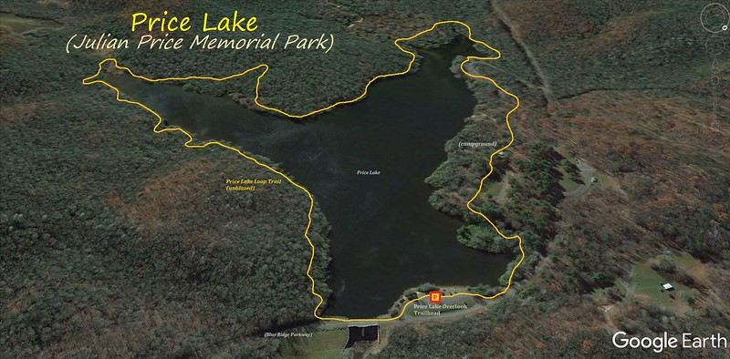 Price Lake Hike Route Map