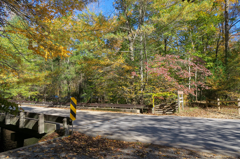 Davidson River Campground Entrance Road