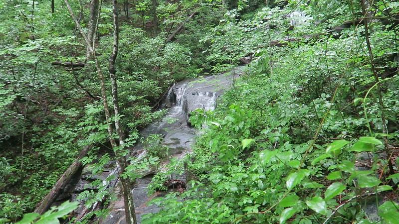 Upper Waterfall (Waterfall #2) on Barnett Branch Trail -- 3,680'