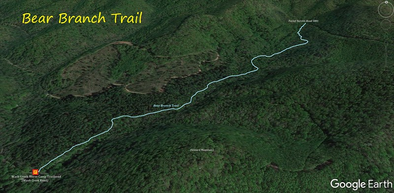 Bear Branch Trail Hike Route Map