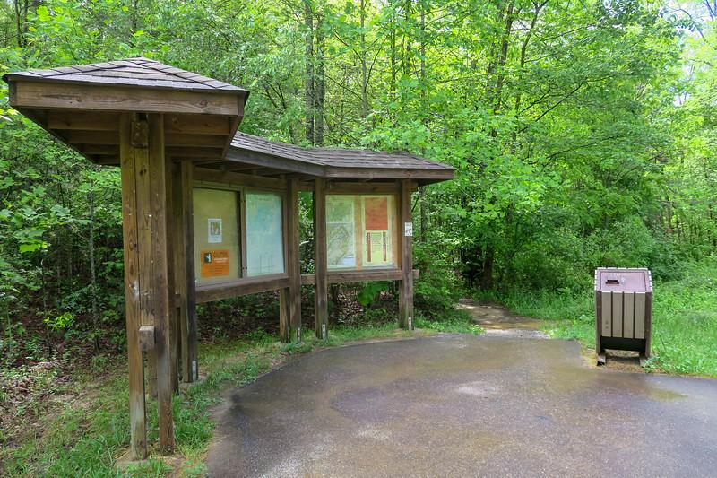 Ledford Branch Trailhead (Deer Lodge Lake Trail) -- 2,230'