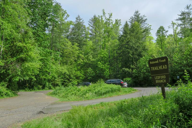 Ledford Branch Trailhead -- 2,220'