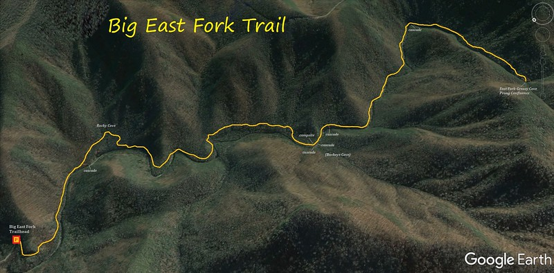 Big East Fork Trail Route Map