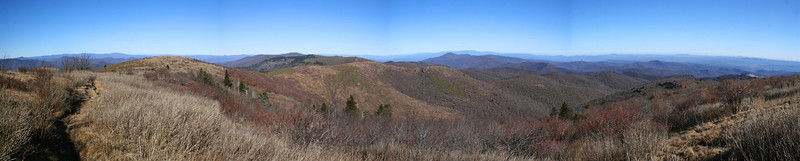 Looking down the East Fork Pigeon River Valley...