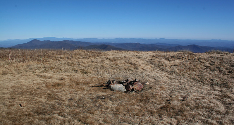 The true summit of Black Balsam Knob, with all of western North Carolina spread out below...