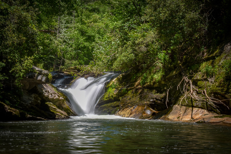 Boxcar Falls -- 2,500'
