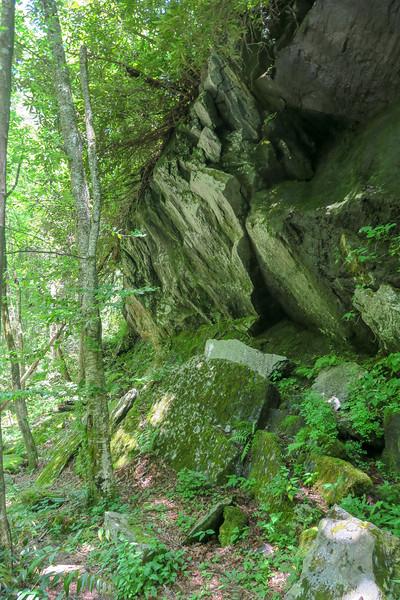 Boxcar Falls/Rail Grade Path -- 2,430'