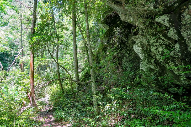 Boxcar Falls/Rail Grade Path -- 2,400'