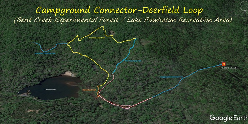 Campground Connector/Deerfield Loop Hike Route Map