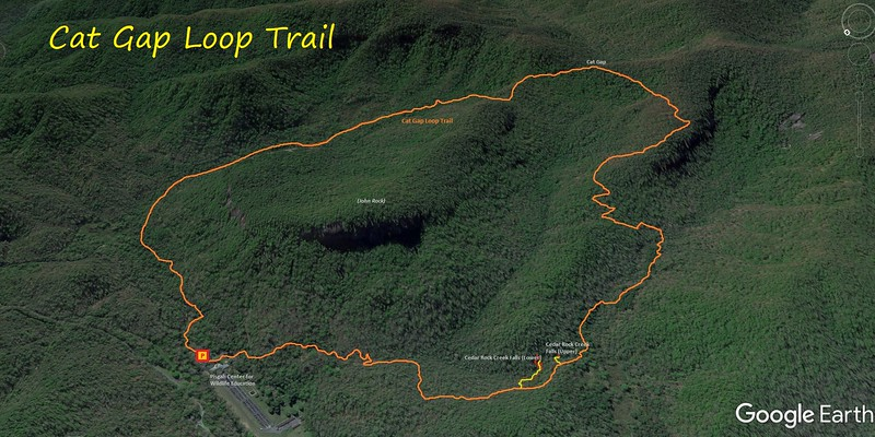 Cat Gap Loop Trail Hike Route Map