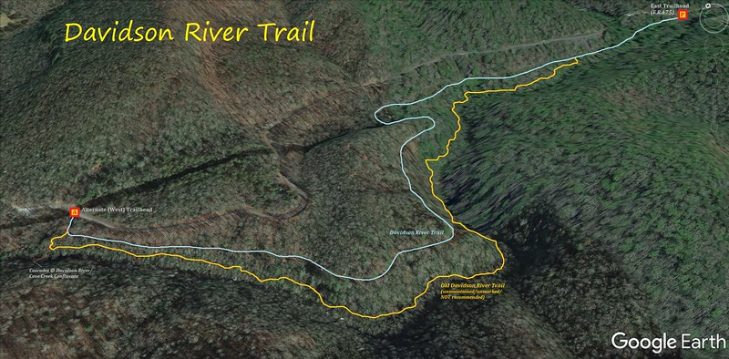 Davidson River Trail Loop Hike Route Map
