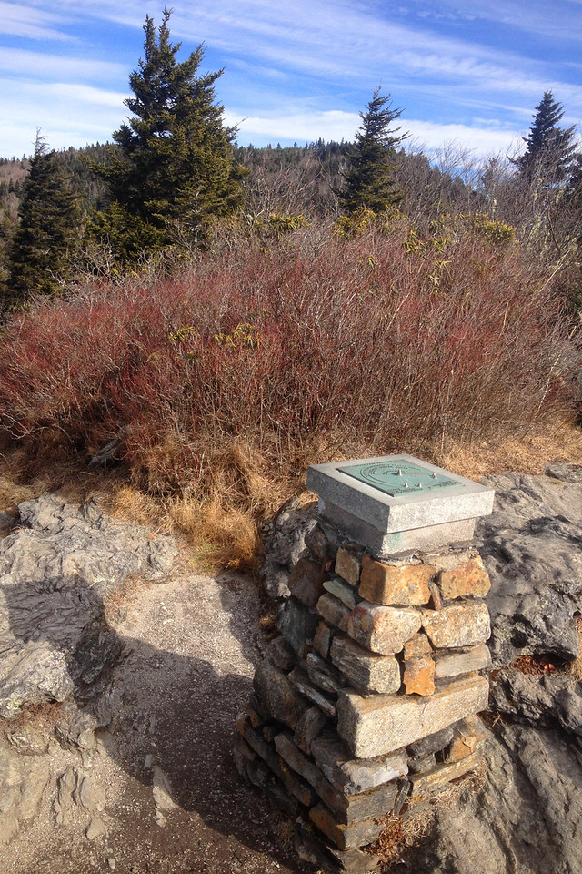 A 4-foot cairn marks what most people think to be the summit of Devils Courthouse however...