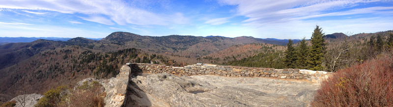 ...and just like that the world opens up around me...the summit of Devils Courthouse...